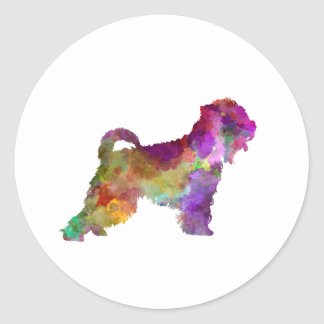 Irish Soft Coated Wheaten Terrier in watercolor.pn Classic Round Sticker