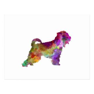 Irish Soft Coated Wheaten Terrier in watercolor.pn Postcard