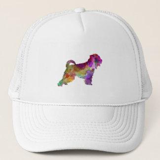 Irish Soft Coated Wheaten Terrier in watercolor.pn Trucker Hat
