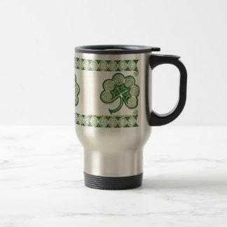 Irish Spiral Shamrock Mugs design