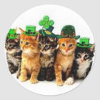 Irish St. Paddy Cats Gifts for Him and Her Classic Round Sticker
