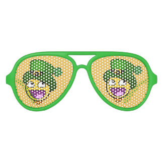 Irish St. Patrick's Day Awesome Face Meme Aviator Sunglasses