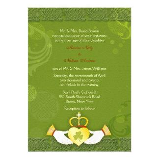 Irish St. Patrick's Day Formal Wedding Invitations