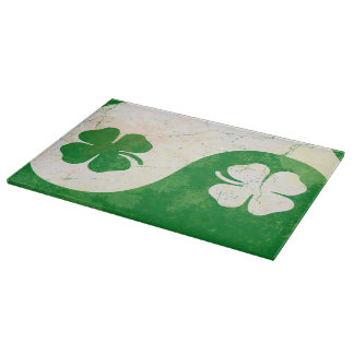 Irish St Patricks Day Shamrock Design Cutting Board
