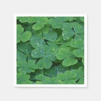Irish St Patricks Day Shamrock Napkins