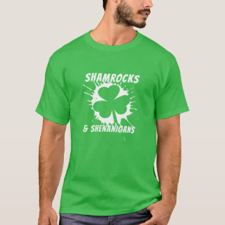 Irish St Patricks Day Shamrock White T-Shirt