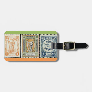 Irish Stamp Luggage Tag
