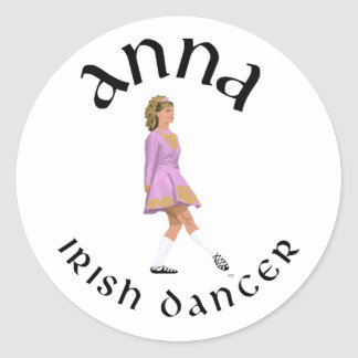 Irish Step Dance Custom design ANNA Classic Round Sticker
