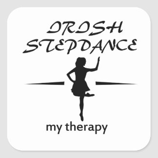irish Step dance designs Square Sticker