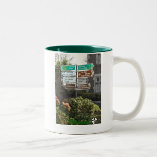 Irish Street Sign - Ireland Two-Tone Coffee Mug