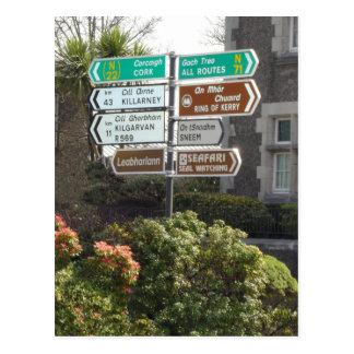 Irish Street Sign Postcard