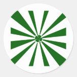 Irish Stripe Shamrock Stickers