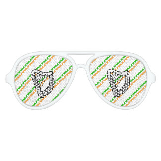 Irish stripes flag aviator sunglasses