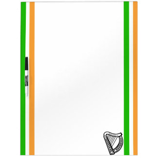 Irish stripes flag dry erase board