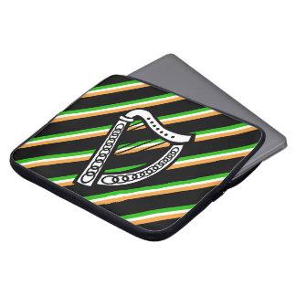 Irish stripes flag laptop sleeve