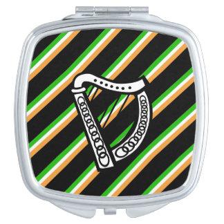 Irish stripes flag mirror for makeup
