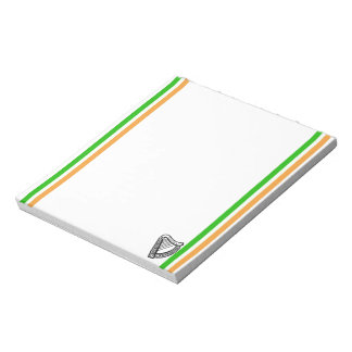Irish stripes flag notepad