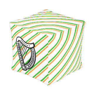 Irish stripes flag pouf