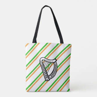 Irish stripes flag tote bag