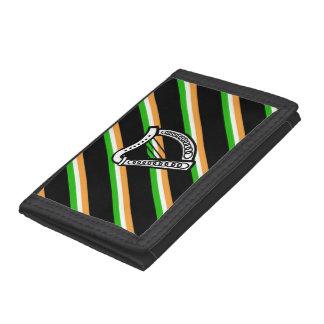 Irish stripes flag tri-fold wallets