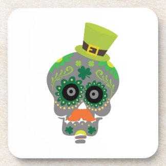 Irish Sugar Skull Funny St Patricks Day Coaster