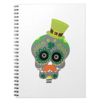 Irish Sugar Skull Funny St Patricks Day Notebook