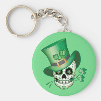 Irish Sugar Skull Keychain
