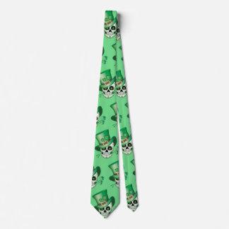 Irish Sugar Skull Tie