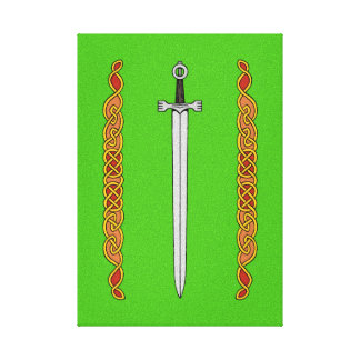 Irish Sword and Knotwork Canvas Print