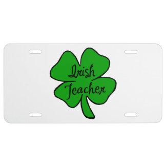 Irish Teacher License Plate
