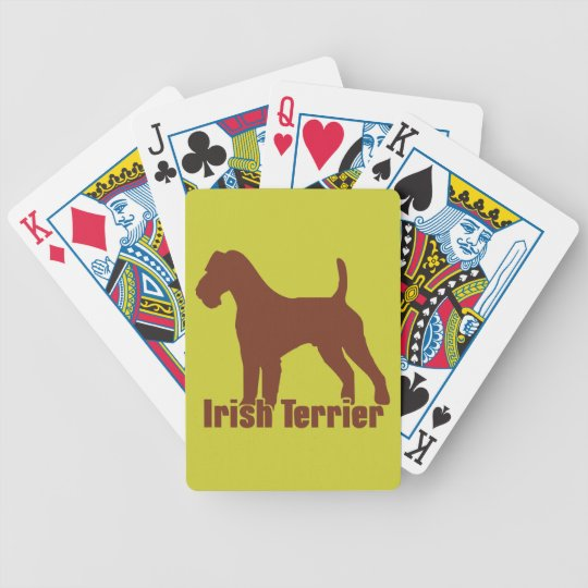 Irish Terrier Bicycle Playing Cards