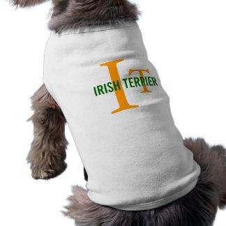 Irish Terrier Breed Monogram Pet Tshirt