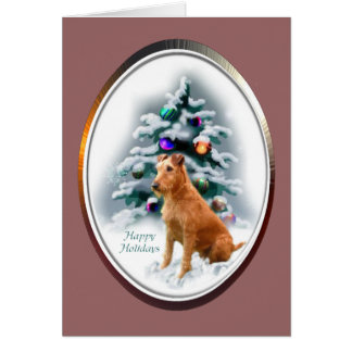 Irish Terrier Christmas Gifts Card