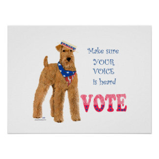 Irish Terrier Elections Posters