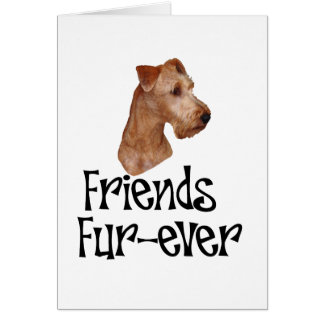 "Irish Terrier ""Friends Fur-ever"" Greeting Card"