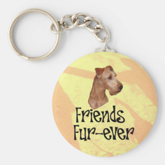 "Irish Terrier ""Friends fur more ever "" Keychain"