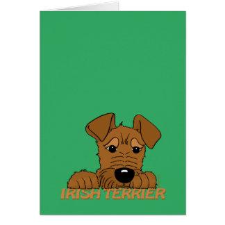 Irish Terrier head Cute Card