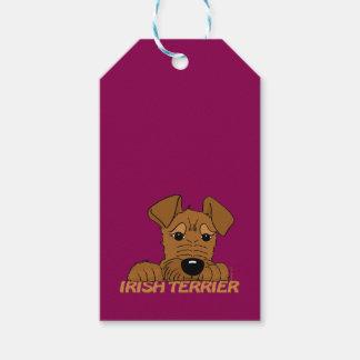 Irish Terrier head Cute Gift Tags