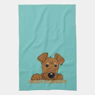 Irish Terrier head Cute Kitchen Towel