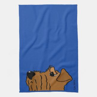 Irish Terrier head Kitchen Towel