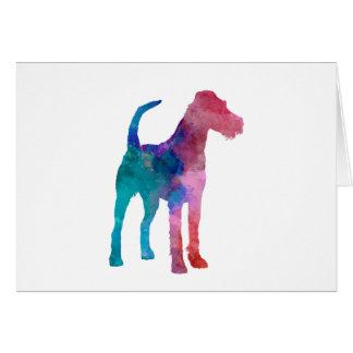 Irish Terrier in watercolor Card
