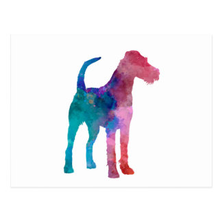 Irish Terrier in watercolor Postcard