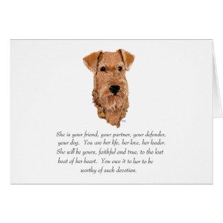 Irish Terrier Keepsake - Female Card