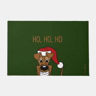 Irish Terrier Santa Doormat