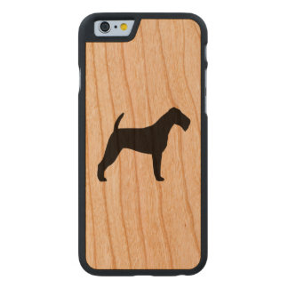 Irish Terrier Silhouette Carved Cherry iPhone 6 Case