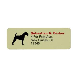 Irish Terrier Silhouette Return Address Label