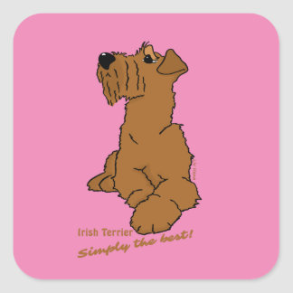 Irish Terrier - Simply the best! Square Sticker