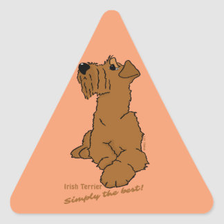 Irish Terrier - Simply the best! Triangle Sticker