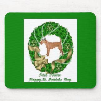 Irish Terrier St Patricks Day Mousepad