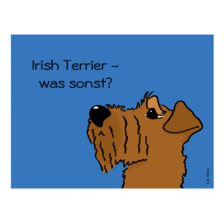 Irish Terrier - which otherwise? Postcard